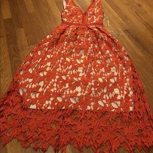 Gianni Bini Women's Orange Lace dress